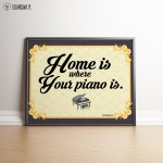 Fortepian - Home is where your piano is - Plakat