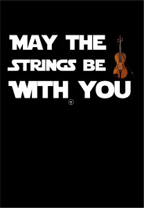 OUTLET - Worek plecak czarny - May the string be with you