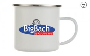 BigBach is wathing You - J.S. Bach - Bach - Kubek emaliowany metalowy