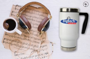 BigBach is wathing You - Bach - J.S. Bach - Kubek termiczny
