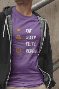 Flet - Eat sleep flute repeat - Męska